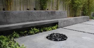 modern concrete patio. Modren Concrete Outdoor Concrete Patio Planter And Bench By Brian McLean   Exchange  Inside Modern Patio