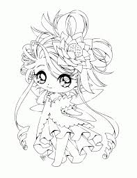 Chibi Coloring Pages Anime Chibi Coloring Pages Princesses Printable