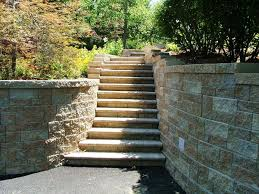 build with cinder block brick wall without mortar building stairs with retaining wall blocks