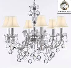 f83 sc b6 chrome 2528 6 maria theresa chandelier lighting crystal chandeliers h 20 x w 22 chrome finish with shades