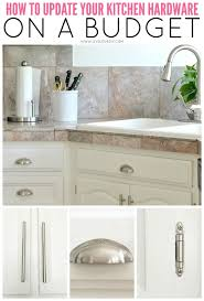 how to create a kitchen cabinet knobs and pulls brushed nickel