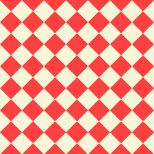 Chequered Pattern Custom Coral Red And White Nectar Checkers Chequered Checkered Squares