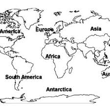 Small Picture World Map of All Continents Coloring Page World Map of All