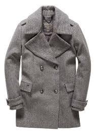 superdry classic peacoat coats grey herringbone women s clothing superdry coats superdry hoos new york largest fashion