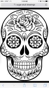 Tattoo Black And White Sugar Skull Kinderfeestje Tatoeage