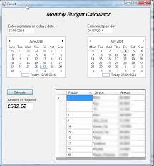 C Monthly Budget Calculator