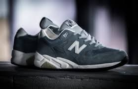 new balance 580. the new balance 580 comes in a steel blue suede