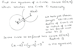 the equation of a circle math coordinate geometry of the circle equation of tangent to circle maths genie