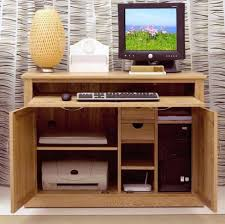 Model Oak Computer Desk | Home Painting Ideas With Hideaway Computer Desk  (View 10 of