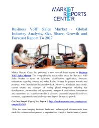 Business VoIP Sales Market - Global Industry Analysis, Size, Share, G…
