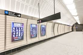 subway station wall. Fine Wall The Locations Of The Video Advertising Panels On Lower Mezzanine Were  Chosen By Dattner Inside Subway Station Wall U