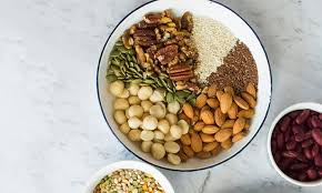 Low Fat Nuts Chart Legumes Nuts And Seeds The Heart Foundation