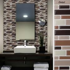 Peel And Stick Kitchen Tile Self Adhesive Wall Tiles For Bathroom Absolutiontheplaycom