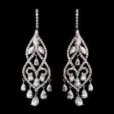 raindrops on roses cubic zirconia cz chandelier earrings