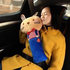 <b>Cartoon</b> Kids Car <b>Seat Belt</b> Pad Large Pillow Rabbit Fox Monkey ...