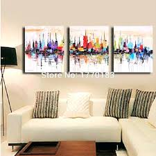 3 piece canvas art coloring oil painting hand painted abstract wall canvas art 3 piece modern