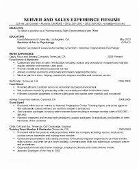 Server Resume Examples Adorable Server Resume Sample Cocktail Waitress Resume Ambfaizelismail