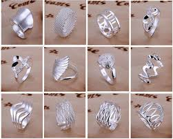 <b>New</b> Arrive 925 silver jewelry 50 <b>style 50pcs</b> lot Charming Women ...