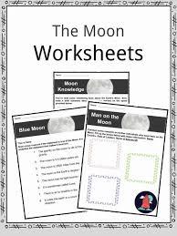The Moon Facts, Worksheets & Lunar Satellite Information For Kids