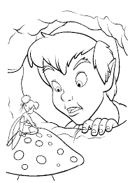 Small Picture Disney Peter pan and Tinkerbell coloring page color pages