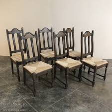 dazzling ideas rush seat chairs set of 6 antique rustic oak dining inessa