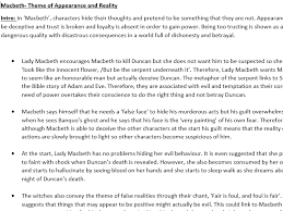macbeth theme of appearance and reality by eb teaching  macbeth theme of appearance and reality by eb03 teaching resources tes