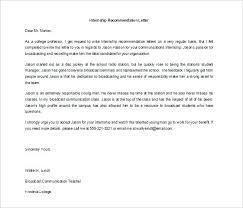 Recommendation Letter For Student Scholarship Pdf Letter Of Recommendation For An Intern Recommendation Letter For