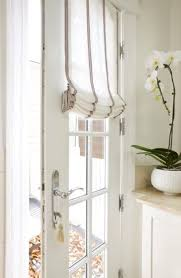 door roman shade via pinterest  Curtains For French DoorsFront Door Window  CurtainsWindow Treatments ...