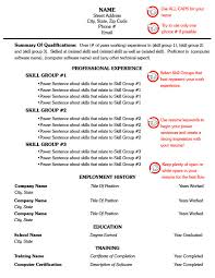 Resume Combo Template Example One Combination Templates All Best