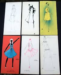 Lot Of 12 Twelve Fashion Designs Sketches Original Vintage Italian Fashion Hand Drawn Signed Various Techniques Used Catawiki