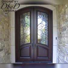 custom french country double doors and
