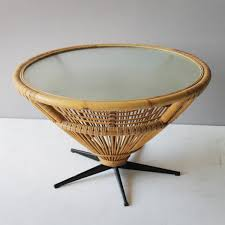 Coffee Table Rattan Mid Century Rattan Coffee Table C1969 For Sale At Pamono