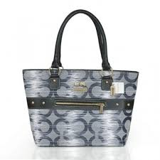 Coach Poppy Stud Medium Grey Totes ASX
