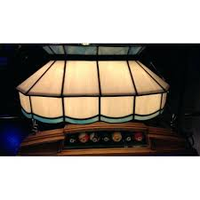 stained glass pool table lighting blue and white leaded glass pool table light custom stained glass