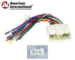 mitsubishi car stereo cd player wiring harness wire aftermarket image is loading mitsubishi car stereo cd player wiring harness wire