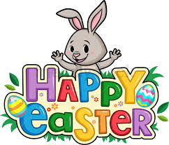 happy easter cartoon clipart vector
