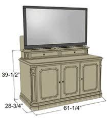tv lift. dimensions tv lift