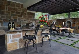 outdoor kitchen with appliances new outdoor living space