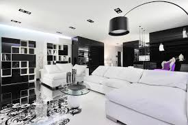 White Furniture Living Room Decorating Black And White Graphic Decor