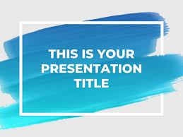 powerpoint templates for it free artsy powerpoint template or google slides theme with brush stroke