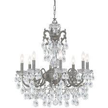 crystorama legacy english bronze 8 light crystal chandelier free regarding 8 light chandelier