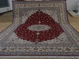 10 14 hand knotted brand new wool and silk sino persian tabriz 10prime 14prime hand knotted brand new wool and silk sino persian tabriz oriental area rug