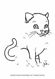 dot to dot animals. Delighful Animals Cat Dot To Throughout To Animals M