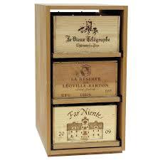 showcase wooden wine bottle case rack 3 drawer