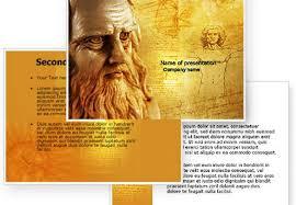 Leonardo Da Vinci Resume Interesting Leonardo Da Vinci Powerpoint Template Free Ikea Preventivo Online