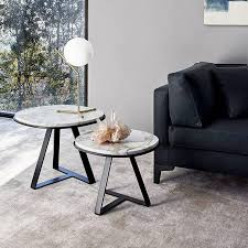 modern meridiani judd marble round side table for