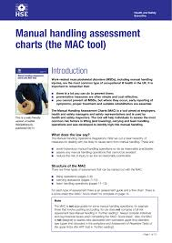 Manual Handling Assessment Charts The Mac Tool