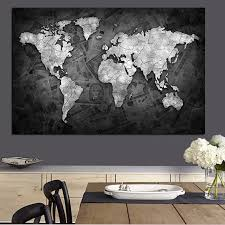 office world map. Online Shop Abstract 3D World Map Canvas Painting Globe Maps On Money Background Print For Office Room Wall Picture Cuadros Decor Aliexpress