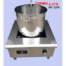 Bếp điện từ công nghiệp bếp đơn phẳng 5000W Tặng kèm 1 Nồi inox 35 lít & 1  chảo chống dính 34cm tốt giá rẻ