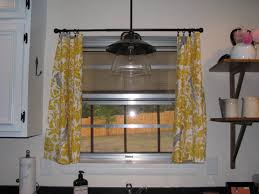 Kitchen Curtains Yellow Kitchen Window With Short Yellow Curtains Practical And Stylish